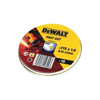 Δίσκοι κοπής INOX DEWALT 115mm x 1.0 - 10 τεμ (DT3506)