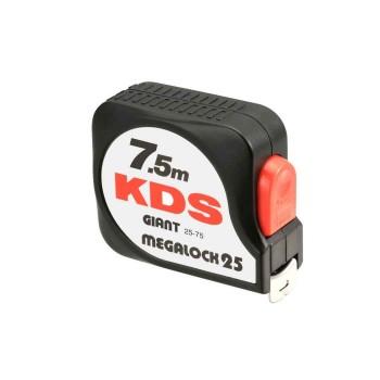 Μέτρο ρολό KDS GIANT MEGALOCK 7.5m x 25mm