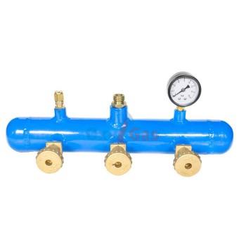 Κολεκτέρ GAS αερίου 3 φιαλών TUBO βαρέως αντεπίστροφο Oxygas 08731