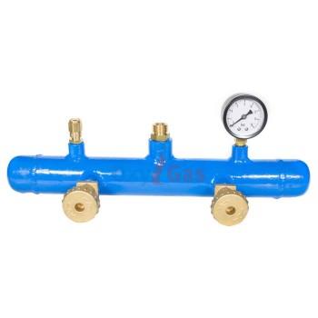 Κολεκτέρ GAS αερίου 2 φιαλών TUBO βαρέως πλήρης Oxygas 034651