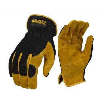 Γάντια εργασίας DEWALT DRIVER HYBRID υβριδική λειτουργικότητα δέρματος (DPG216L)