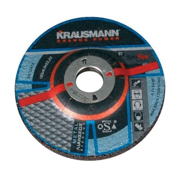 Δίσκος λειάνσεως σιδήρου Krausmann 125x6,5x22mm 10τμχ