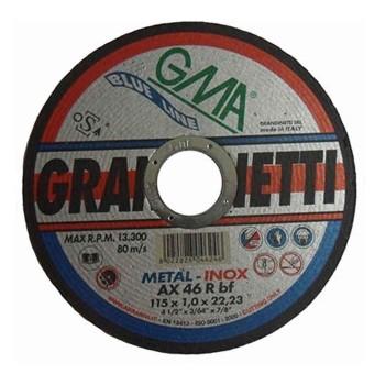 Δίσκος κοπής inox GRANDINETTI Φ115x1,0 25τμχ