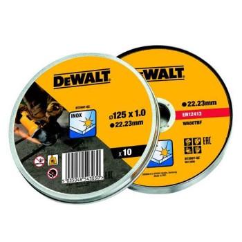 Δίσκοι κοπής INOX DEWALT 1.0 x 125mm - 10 τεμ (DT3507)