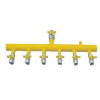 Κολεκτέρ διανομής 6 φιαλών TUBO χαμηλής πίεσης με επάνω είσοδο
