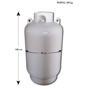 Δεξαμενή υγραερίου 500lt  - Κάθετη - για υπέργεια τοποθέτηση