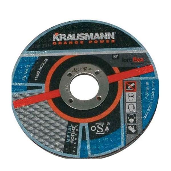 Δίσκος κοπής σιδήρου krausmann 125x2,5x22mm 096-0001-0125-8 10τμχ