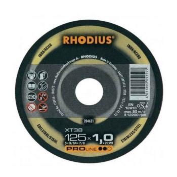 Δίσκος κοπής Inox 125mm x 1,0mm Rhodius 204621