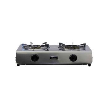 Επιτραπέζιο κουζινάκι INOX (2 εστιών) DIN-GAS 2-10SRB