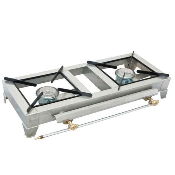 Επαγγελματική εστία επιτραπέζια inox (2 καυστηρες)