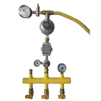Σετ επίτοιχου λέβητα υγραερίου (3 φιαλών)