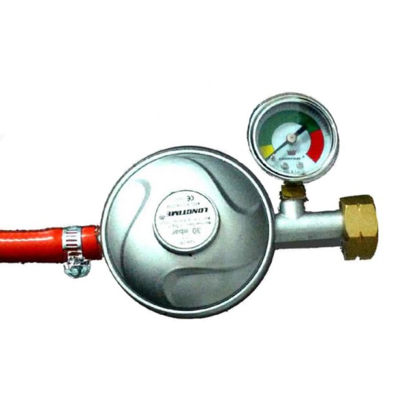 Ρυθμιστής υγραερίου με μανόμετρο (για BBQ)