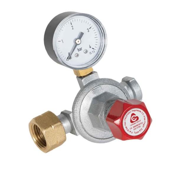 Ρυθμιστής αερίου υψηλής πίεσης με μανόμετρο 6-10kg/h (912)